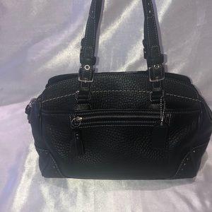 Coach #5031 black pebble leather satchel